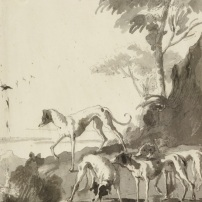 Giandomenico Tiepolo, Hunting dogs,, Kupferstichkabinett, Berlin