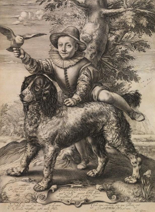 Hendrick Goltzius, A boy and a water spaniel, Kupferstichkabinett, Berlin