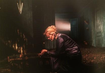 Gertrude (Anastasia Hille) mourns Ophelia's death