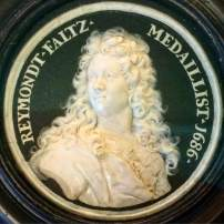Raymond Faltz's wax design for his Self Portrait medal, Bodemuseum, Berlin