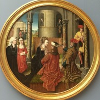 Potiphar and his wife from the Story of Joseph, Bodemuseum, Berlin