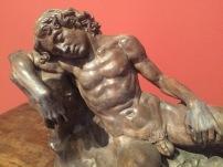 Andrea del Verrocchio, A sleeping youth,, Bodemuseum, Berlin