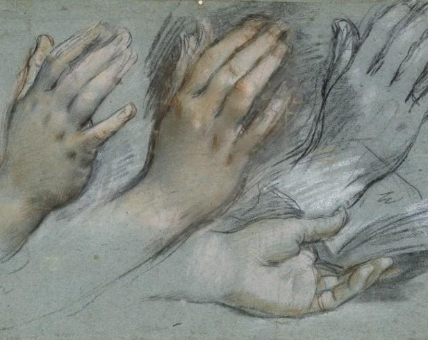 Federico Barocci, Study of hands, Kupferstichkabinett, Berlin