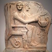 Heroes receiving worshippers (Sparta, c.540 BC), Altes Museum, Berlin