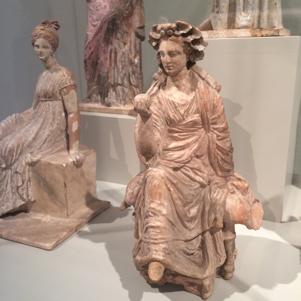 Painted beauties from Tanagra (Greece, c.300-100 BC), Altes Museum, Berlin
