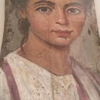 Portrait of a young girl, mummy portrait from Fayum, 50-250 AD, Altes Museum, Berlin