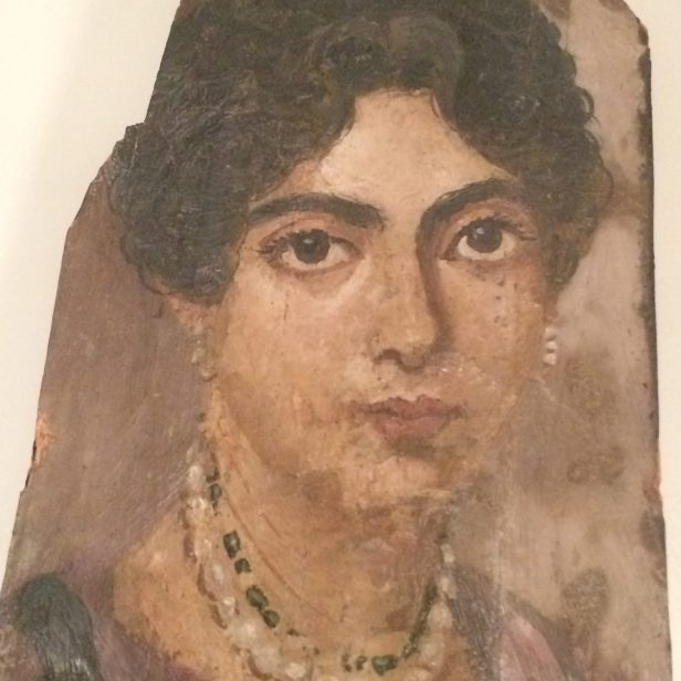 Portrait of a lady, mummy portrait from Fayum, 50-250 AD, Altes Museum, Berlin