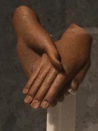 The hands of Akhenaten and Nefertiti (c.1350 BC), Neues Museum, Berlin