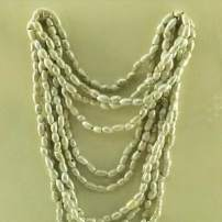 A Babylonian or Persian necklace made from mother-of-pearl beads, Pergamonmuseum, Berlin