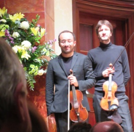 Riccardo Minasi and Stefano Rossi take their bows © Baroque Bird