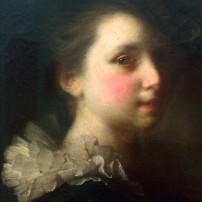 Alexis Grimou (1678-1733), Portrait of a Girl in Spanish costume, c.1731, oil on canvas, Kunsthalle, Karlsuhe (detail)