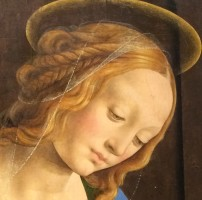 Lorenzo di Credi (c.1459-1537), Madonna and Child with St John, c.1480, Karlsruhe, Kunsthalle (detail)