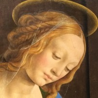 Lorenzo di Credi (c.1459-1537), Madonna and Child with St John, c.1480, Karlsruhe, Kunsthalle (detail)
