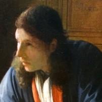 Johannes Vermeer, The Geographer, Staedel, Frankfurt (detail)