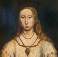Netherlandish School, Portrait of a girl, c.1520, oil on panel, Martin von Wagner Museum, Wüurzburg (detail)