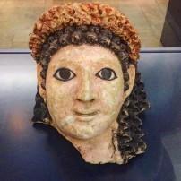 Egyptian plaster mummy-portrait, 1st century BC, Martin von Wagner Museum, Würzburg