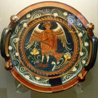 Greek bowl with a musical siren, 4th century BC, Martin von Wagner Museum, Würzburg