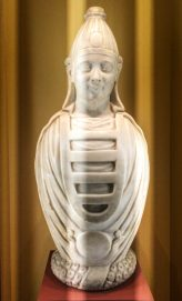 A Roman water jar in the shape of Osiris, dating from the 1st century AD