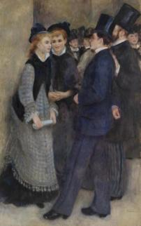 Pierre-Auguste Renoir, Leaving the Conservatory, 1876-77, Barnes Foundation, Philadelphia