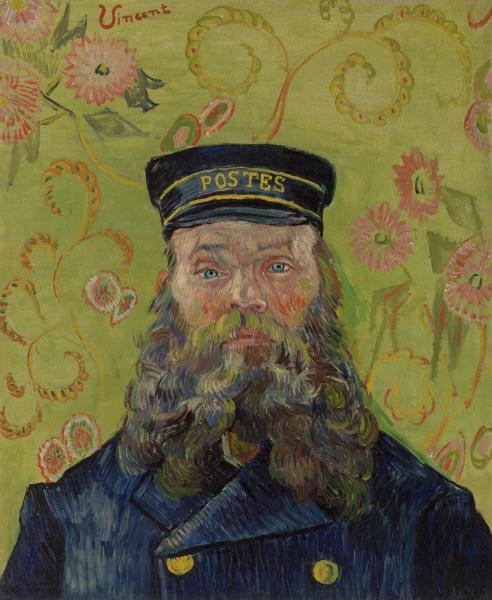 Vincent Van Gogh, The Postman (Portrait of Joseph-Étienne Roulin), 1889, Barnes Foundation, Philaelphia