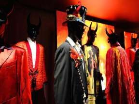 Some of Mick Jagger's costumes for Sympathy for the Devil