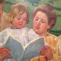 Cassatt: Women reading with a child