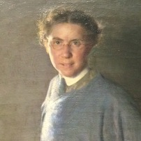 Margaret Foster Richardson, A Motion Picture (Self Portrait), 1912, Pennsylvania Academy of the Fine Arts
