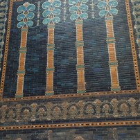 Patterns on the tiled façade of Nebuchadnezzar's throne room, Pergamonmuseum, Berlin