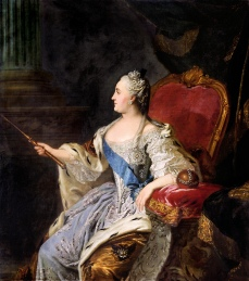 Fedor Rokotov, Portrait of Catherine the Great, 1763, Tretyakov Gallery Moscow