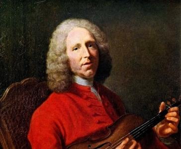 Attributed to Jacques Aved, Portrait of Jean-Philippe Rameau, 1728, Musée des Beaux-Arts de Dijon (detail)
