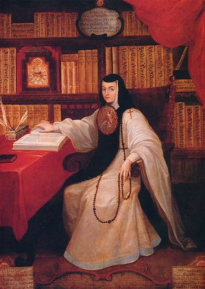 Miguel Cabrera, Posthumous portrait of Sor Juana in her study, c. 1750, Chapultepec Castle