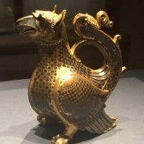 A12th-century aquamanile in the shape of a griffin, Kunsthistorisches Museum, Vienna