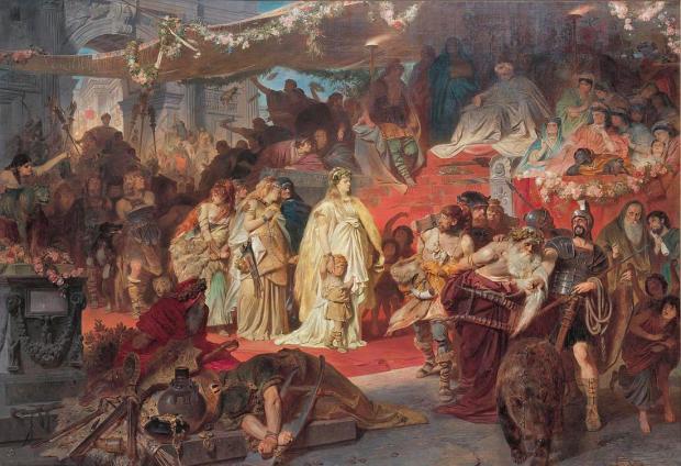 Von Piloty: Thusnelda in Germanicus' Triumph