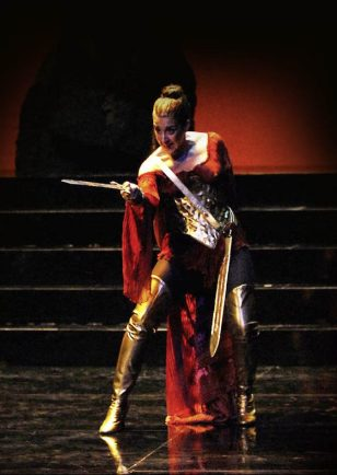 Antiope (Mary-Ellen Nesi) prepares herself for vengeance
