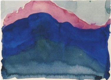 Georgia O'Keeffe, Pink and Blue Mountain, 1916, Georgia O'Keeffe Museum, Santa Fe © Georgia O'Keeffe
