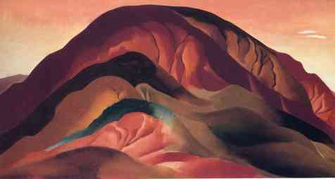 Georgia O'Keeffe, Rust Red Hills, 1930, Brauer Museum of Art, Valparaiso University © Georgia O'Keeffe