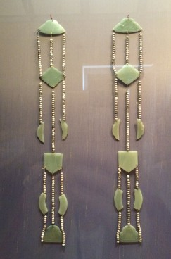 Jade ornaments dating from the 13th or 14th century, designed to be worn on a lady's belt
