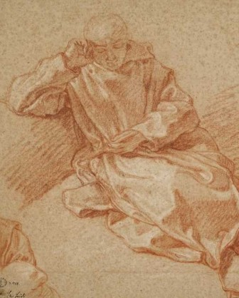 Charles de La Fosse, St Bruno, Musée des Beaux-Arts et d'Archéologie de Besançon (detail)