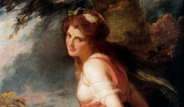 Romney: Emma as Bacchante