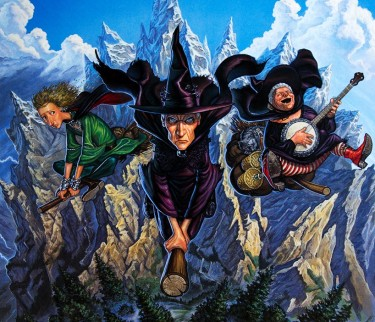 Wyrd Sisters (from left: Magrat, Granny Weatherwax and Nanny Ogg) © Paul Kidby