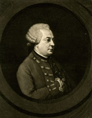 Thomas Burke, after Jacques-Gabriel Huquier, Portrait of the Chevalier d'Eon. Published 7 August 1771.