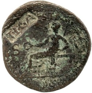 Coin of Caligula with Claudius' countermark [TICA], British Museum, London © The Trustees of the British Museum