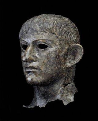 Head of Claudius or Nero, bronze, found in the River Alde, British Museum, London © The Trustees of the British Museum