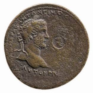 Coin of Caracalla and Geta, the latter erased from the right-hand side, British Museum, London © The Trustees of the British Museum
