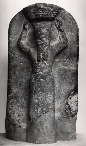 Sculpture of Shamash-shum-ukin, King of Babylon, as a builder, his face erased, stone, 668-665 BC, British Museum, London © The Trustees of the British Museum
