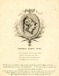 John Condé, Proprio Marte Tuta: a print in honour of the Chevalier d'Eon, 1791