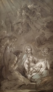 Carle Van Loo, The Adoration of the Angels, 1750-51, Musée des Beaux-Arts, Brest (preparatory sketch; prèmiere pensée)