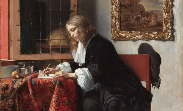 Metsu: Young man writing a Letter