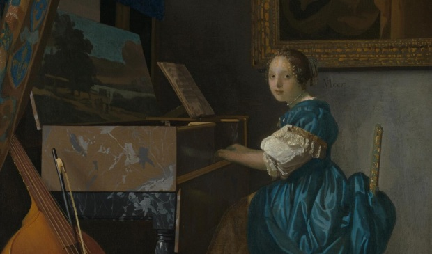 Vermeer: Young Woman at a Virginal