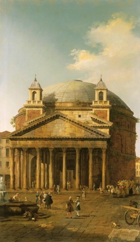 Canaletto, The Pantheon, 1742, Royal Collection